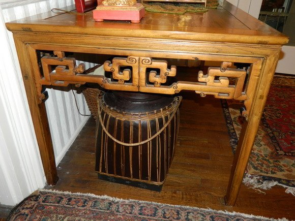 296: Impressive Circa 1847 Elaborate Chinese Elm Wood P - 3