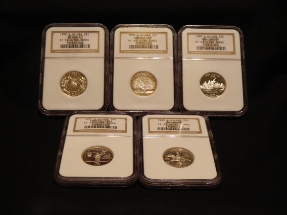 2: 1999-S 5 Piece PF69 Quarter Set (Silver)