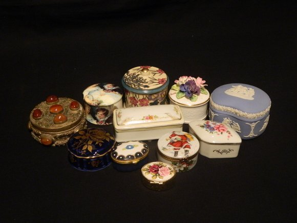1: Collection of Eleven Porcelain Boxes