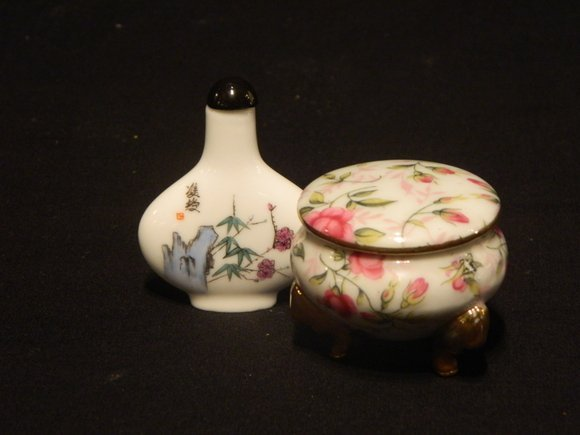 4: Chinese Hand-Painted Perfume Bottle and a Hand-Paint