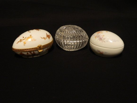 6: Group of Three Porcelain Eggs
