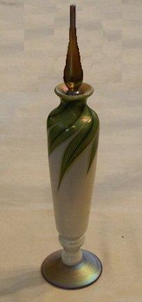 19: Steven Lundberg Art Glass Iridescent Perfume Bottle