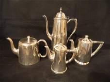 "121: Group of Four Tea and Coffee Pots. Hallmarks: ""B"