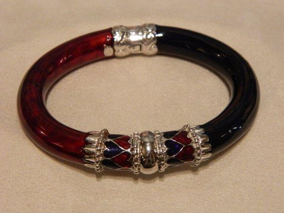 11: Sterling Silver Enamel Vermeil Bracelet