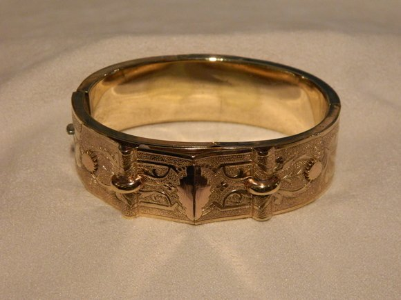 13: Circa 1890s Gold Filled Victorian Bracelet