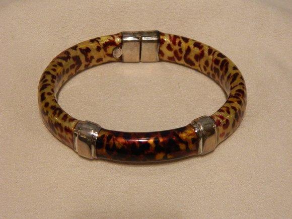 15: Silver Enamel Bracelet
