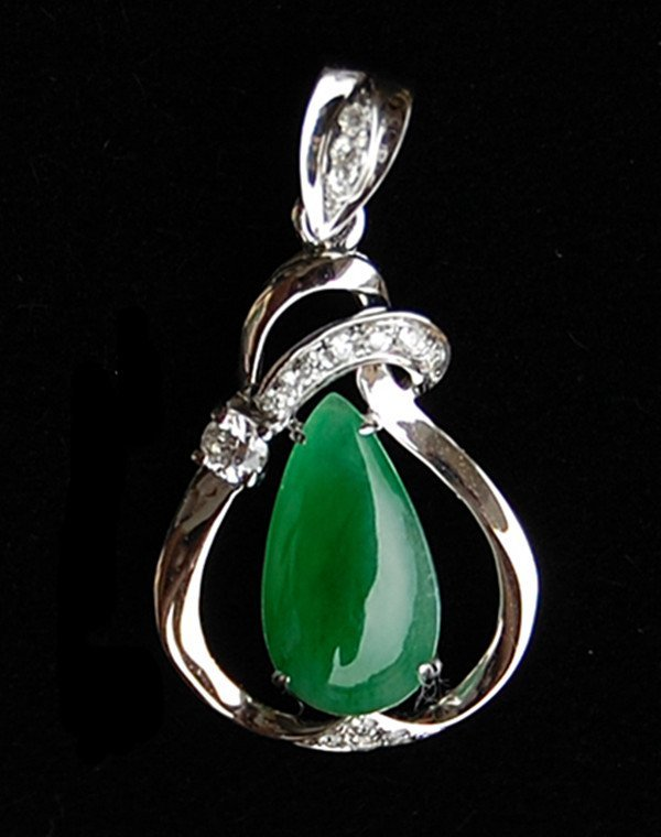 64: An 18K Diamonds and Natural Imperial Green Jadeite