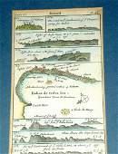 296: Circa 1720 Map of Brasil Bahia de Todos Santos. O