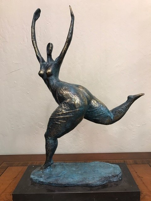 Patinated Bronze Statue of Dancing Lady by Milo
