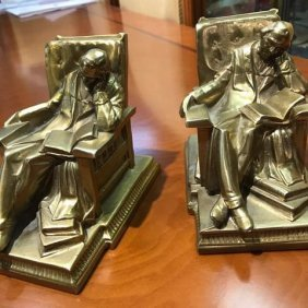 Pair of Gilded Bronze Book Ends