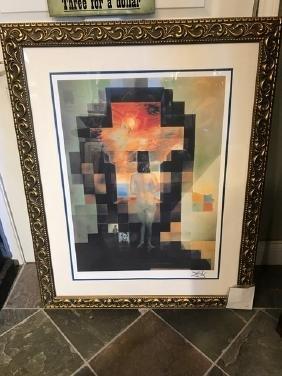 Abstract Salvador Dali Painting - Abraham Lincoln Print