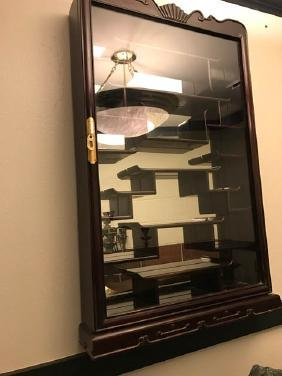 Wooden Wall-Mountable Display Cabinet