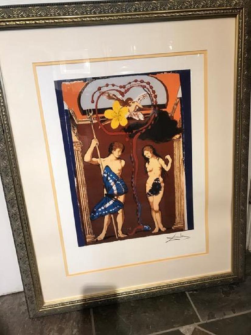 """Adam and Eve"" Lmtd. Ed. Print by Salvador Dali"