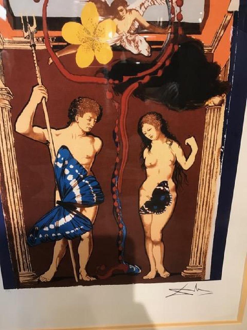 """Adam and Eve"" Lmtd. Ed. Print by Salvador Dali - 2"