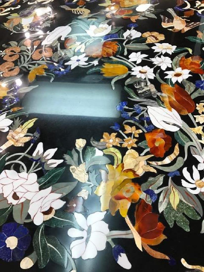 Spectacular Onyx and Stone Inlay Mosaic Pietra Dura - 6