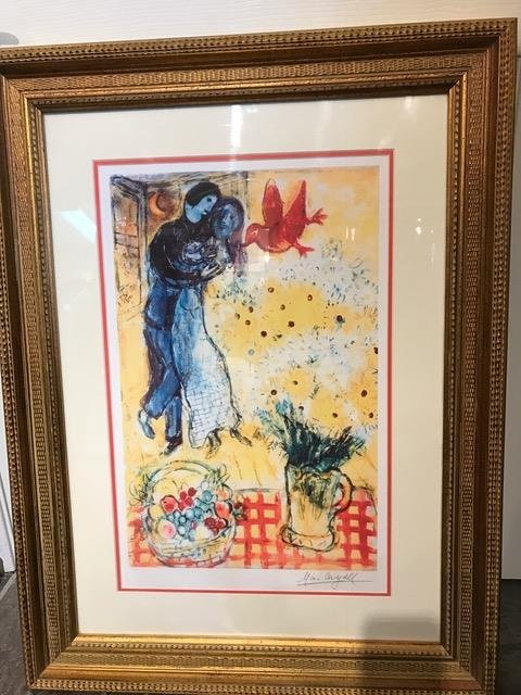 """Lovers and Daisies"" Lmtd. Ed. Print by Marc Chagall"