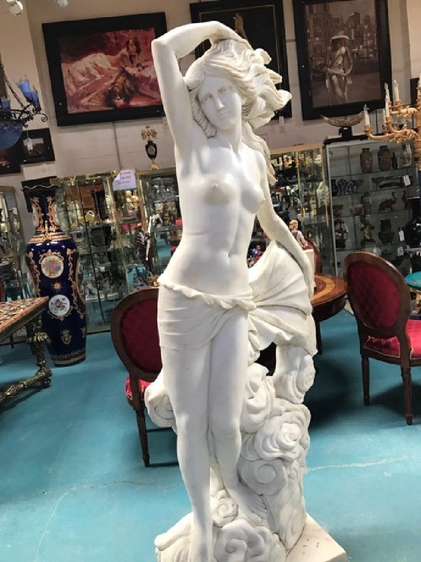 Exquisite Carved Marble Statue of Woman