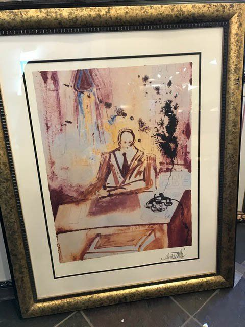 """""""Business Man"""" Limited Ed. Print by Salvador Dali"""