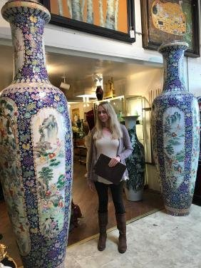 Pair Of Large Magnificent Chinese Vases
