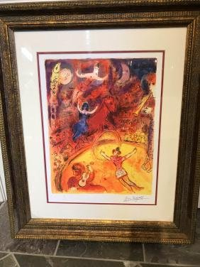 """""""circus"""" Framed Print By Marc Chagall"""