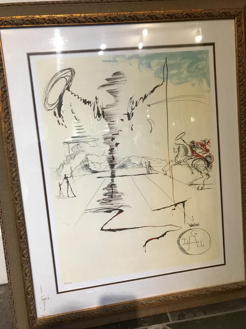 """Chevalier (Don Q)"" Framed Print by Salvador Dali"