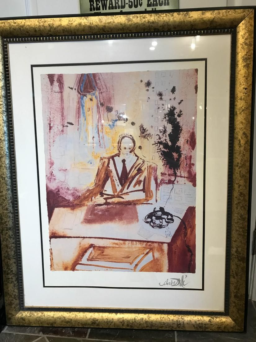 """Business Man"" Framed Print by Salvador Dali"