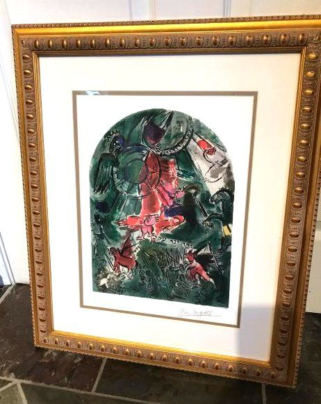 """Stained Glass Windows"" Print by Marc Chagall"