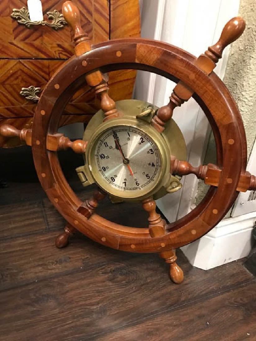 Maritime Wheel Clock