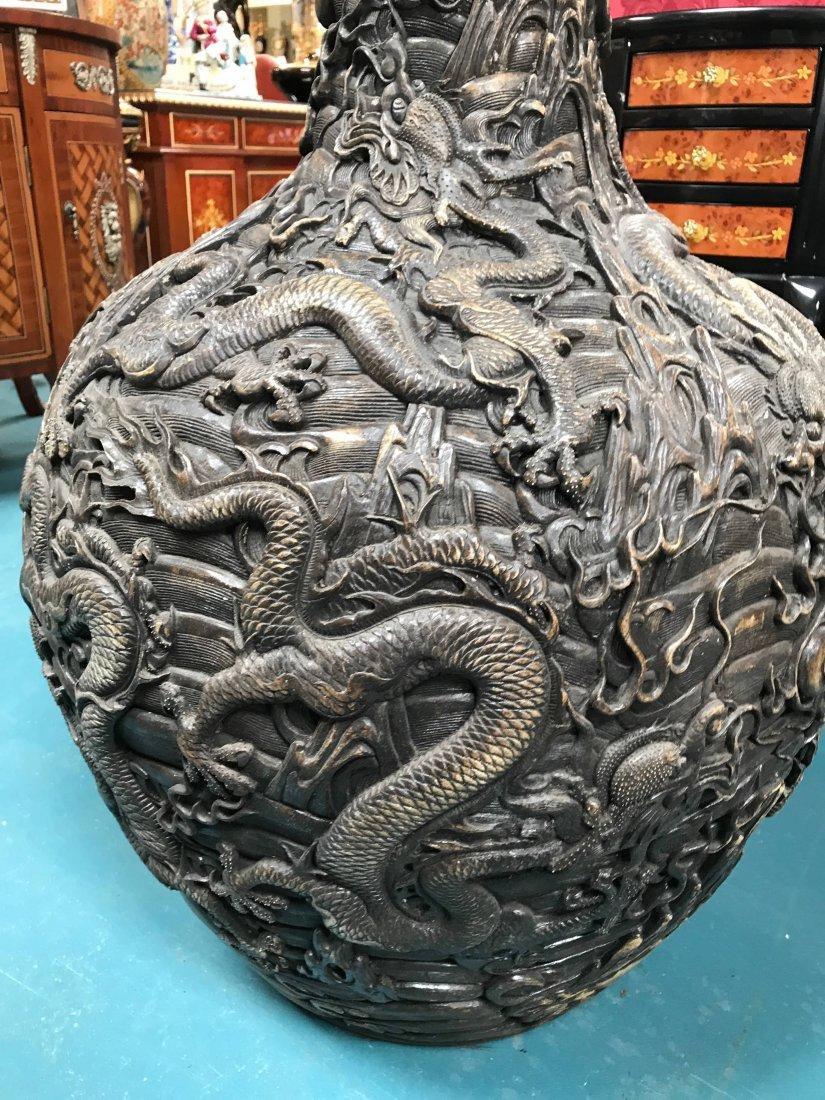 Large Chinese Hard Porcelain Dragon Vase - 6