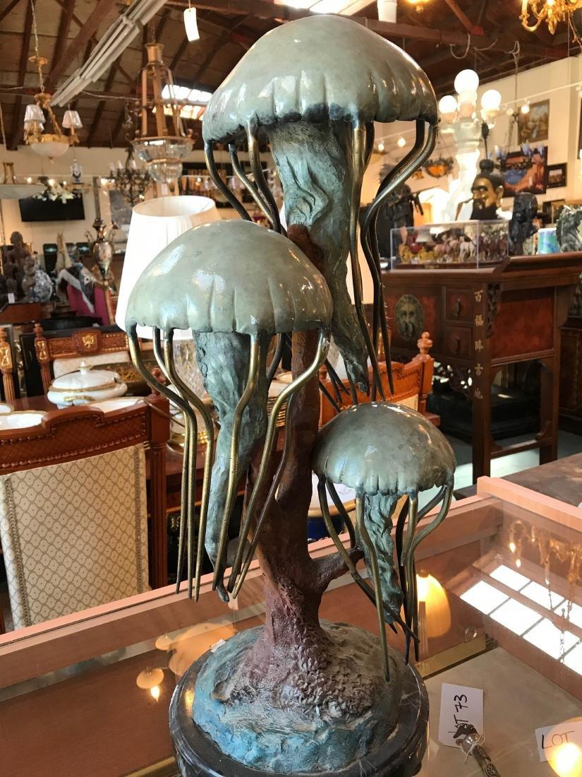 Mulit-Patinated Bronze Jellyfish Statue