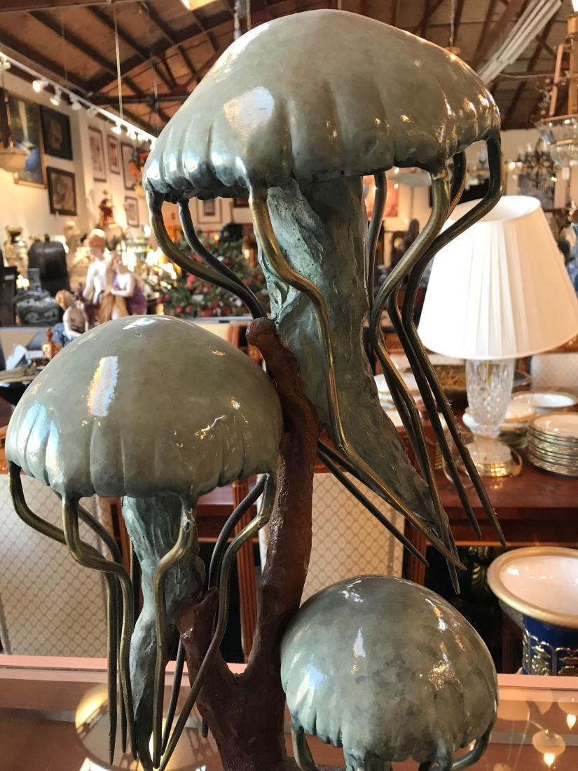 Mulit-Patinated Bronze Jellyfish Statue - 2