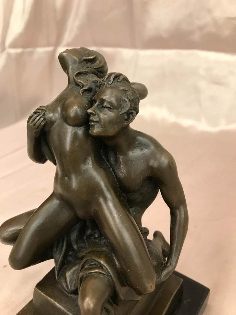 Erotic Bronze Statue of Man and Woman - 2