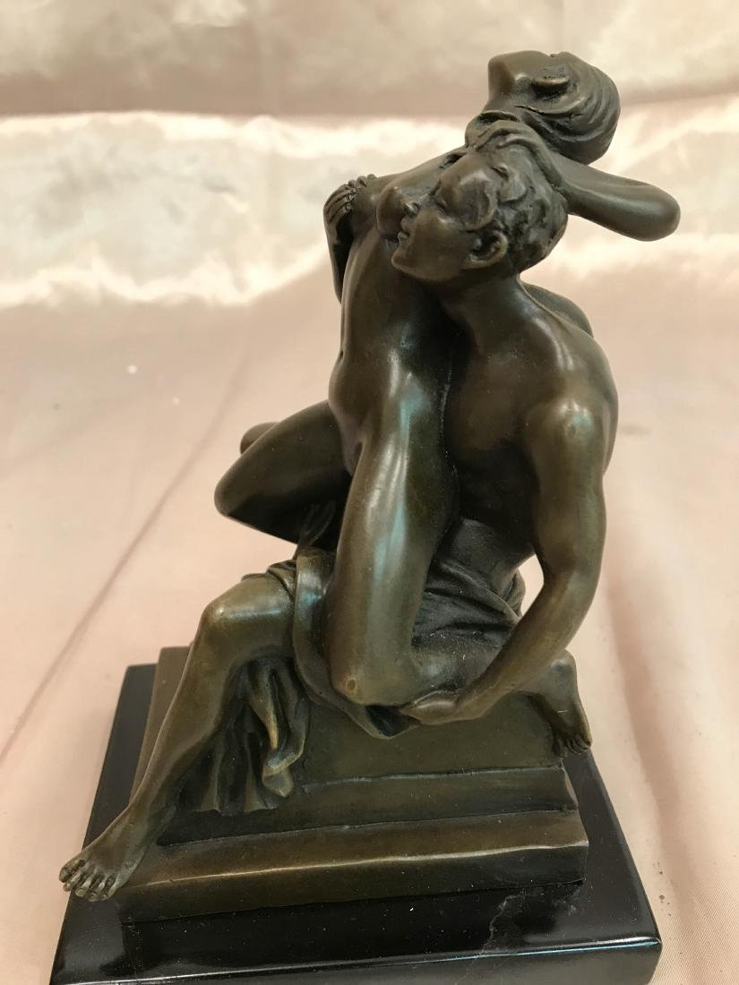 Erotic Bronze Statue of Man and Woman - 6