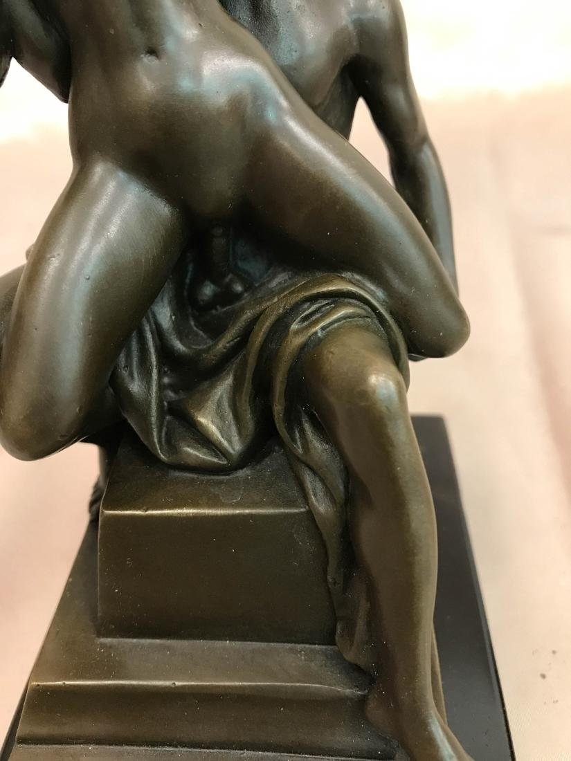 Erotic Bronze Statue of Man and Woman - 7