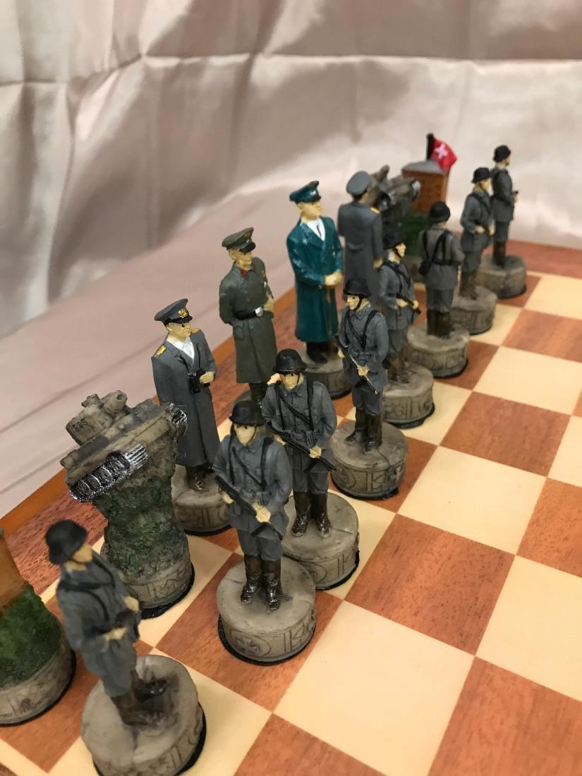 WWII Burled Wood Chess Set - 2