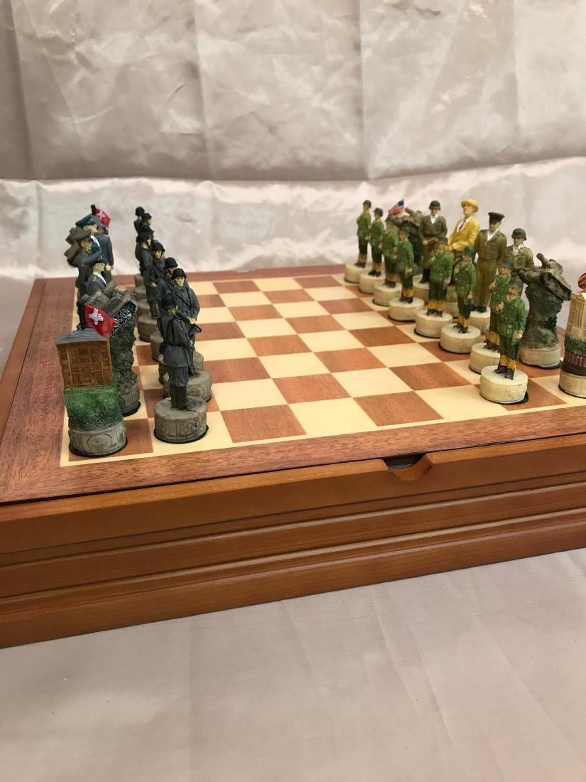 WWII Burled Wood Chess Set - 5