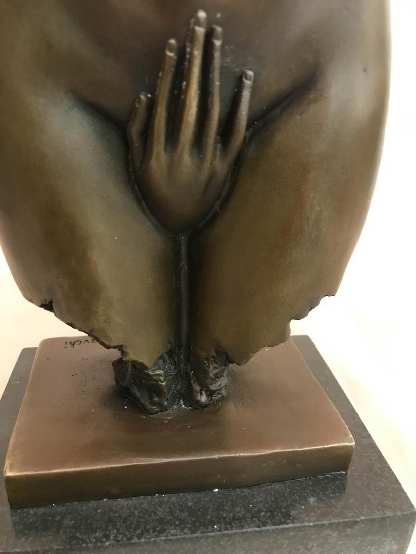 Abstract Erotic Bronze Statue by J. Navichi - 2