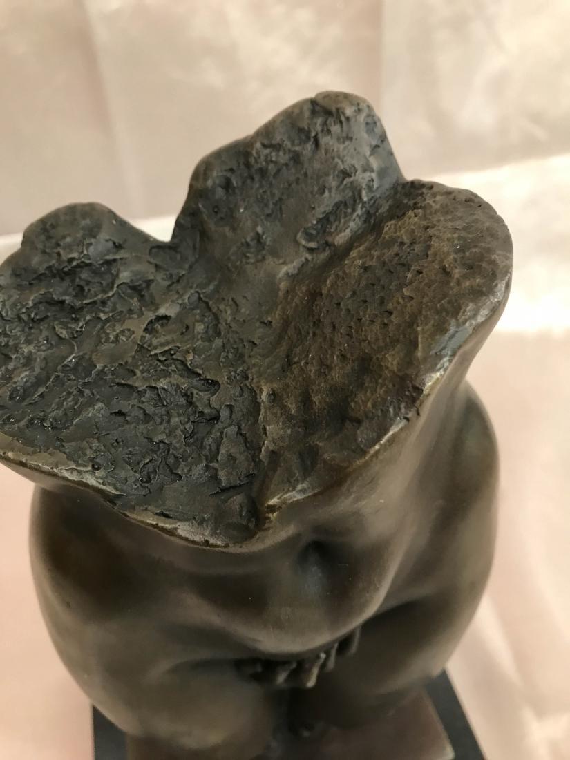 Abstract Erotic Bronze Statue by J. Navichi - 3