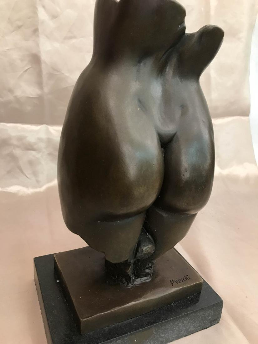 Abstract Erotic Bronze Statue by J. Navichi - 6