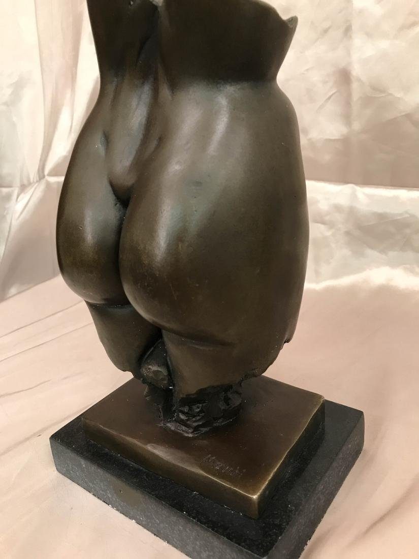 Abstract Erotic Bronze Statue by J. Navichi - 7