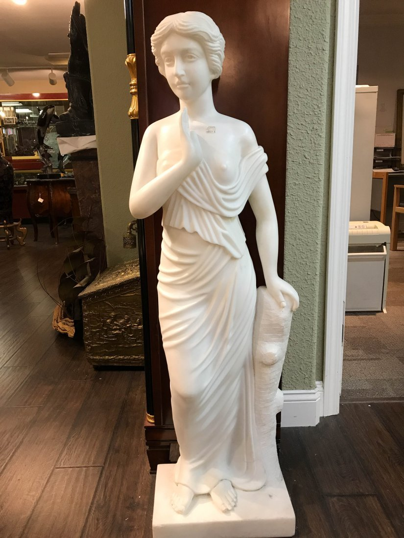 Solid White Marble Statue of Biblical Woman