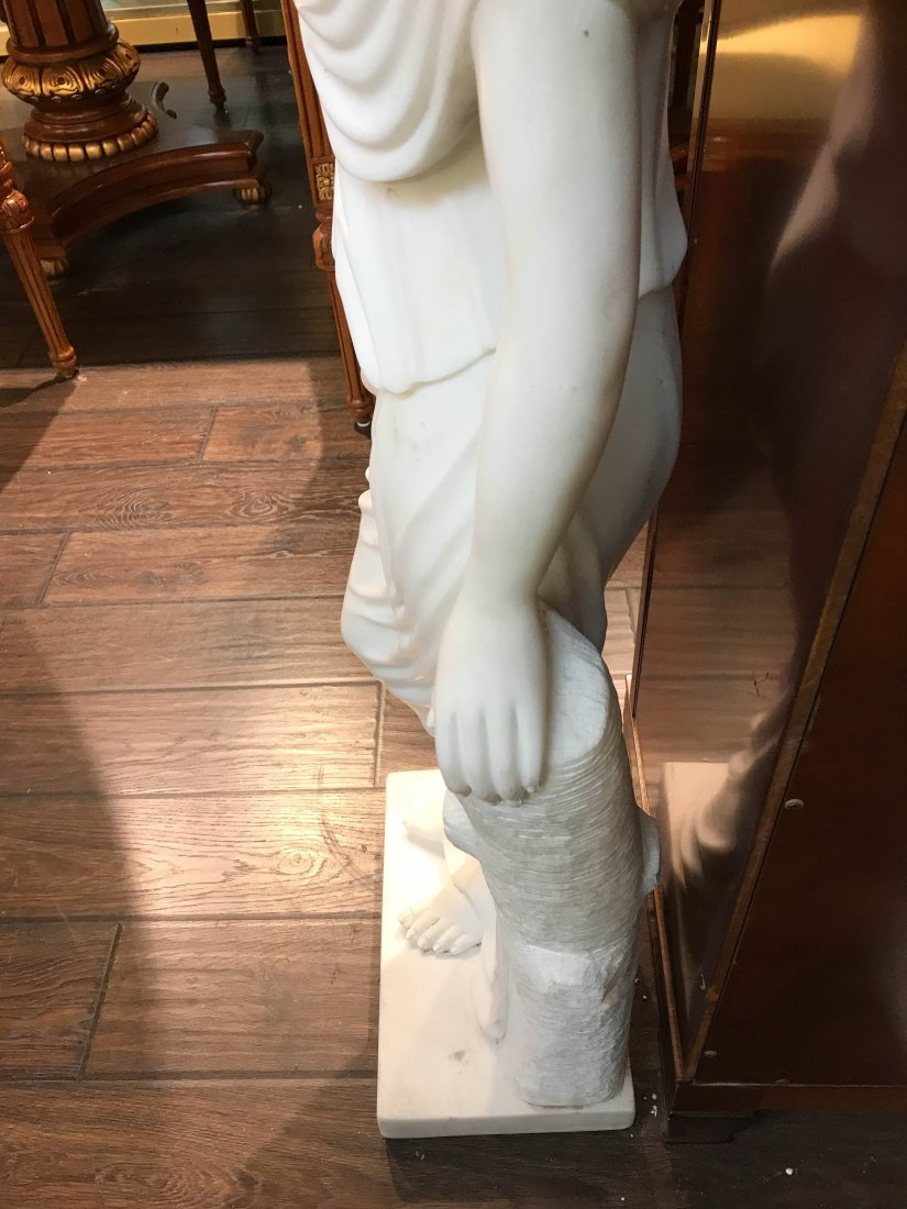 Solid White Marble Statue of Biblical Woman - 6