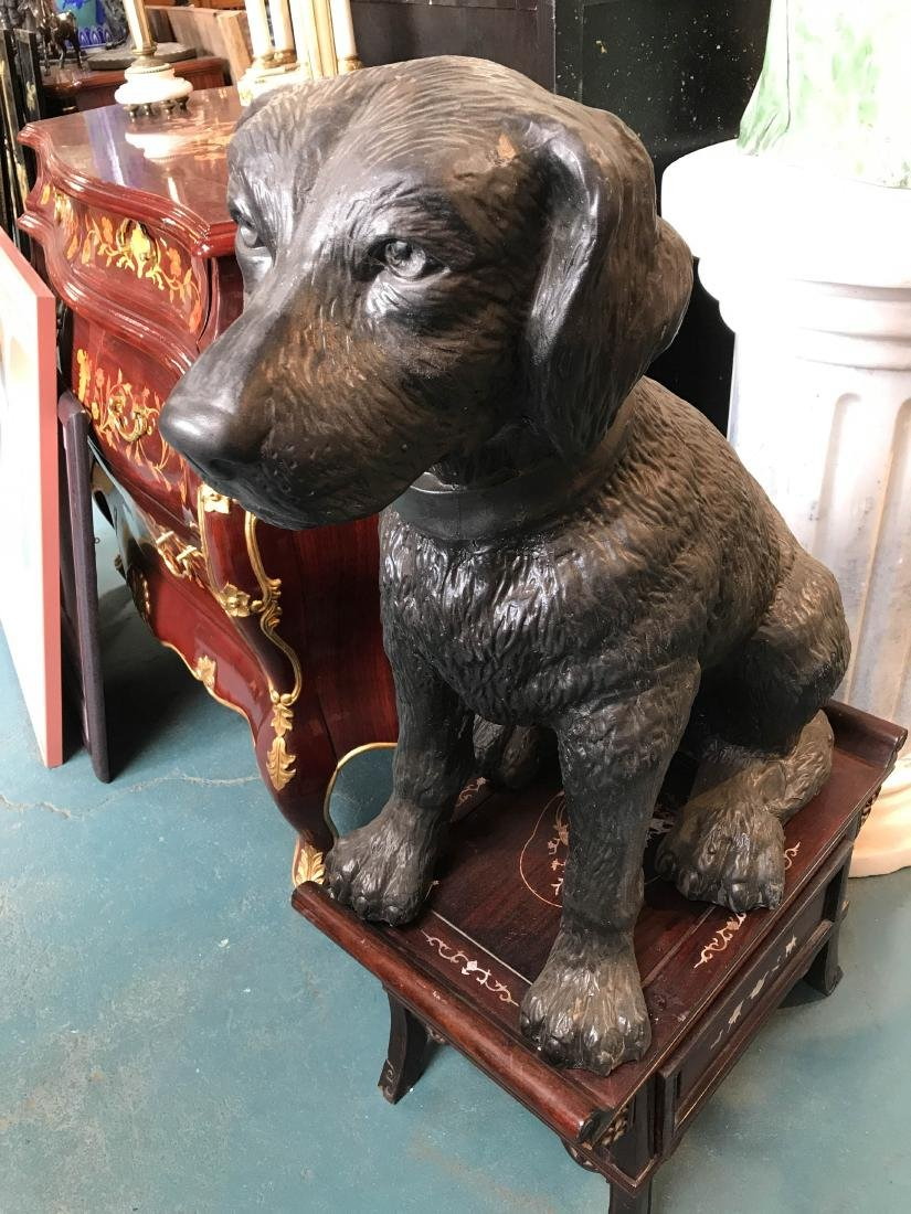 Bronze Statue of Labrador Dog Sitting - 2