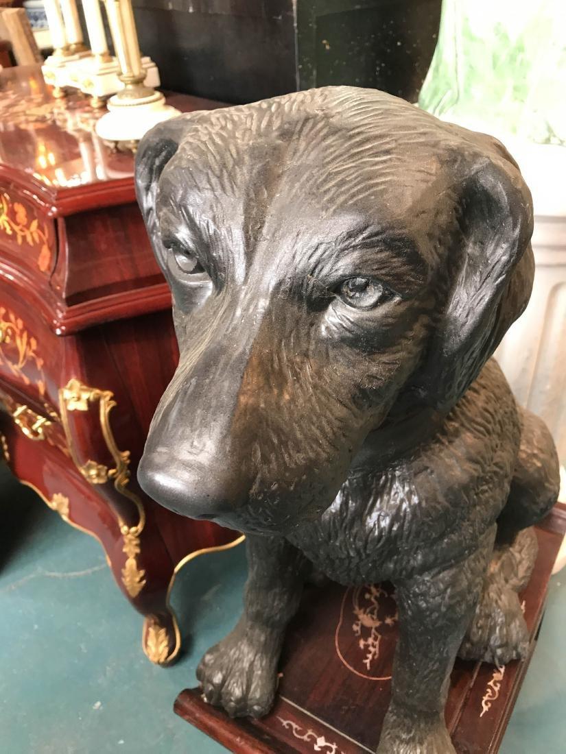 Bronze Statue of Labrador Dog Sitting - 7