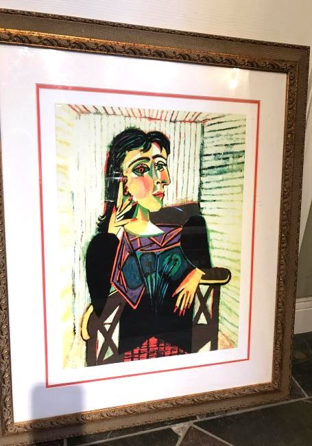 """""""Portrait of Dora Naar Seated"""" Print by Picasso"""