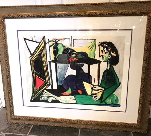 """Interior with Girl Drawing"" Print by Picasso"