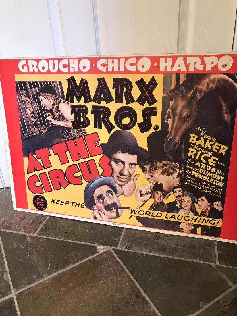 Marx Brox. At the Circus Poster on Hardboard