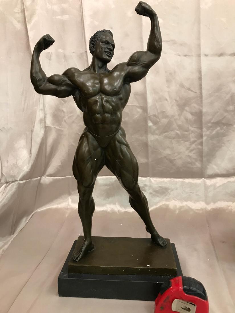 Bronze Statue of Nude Body Builder by Milo