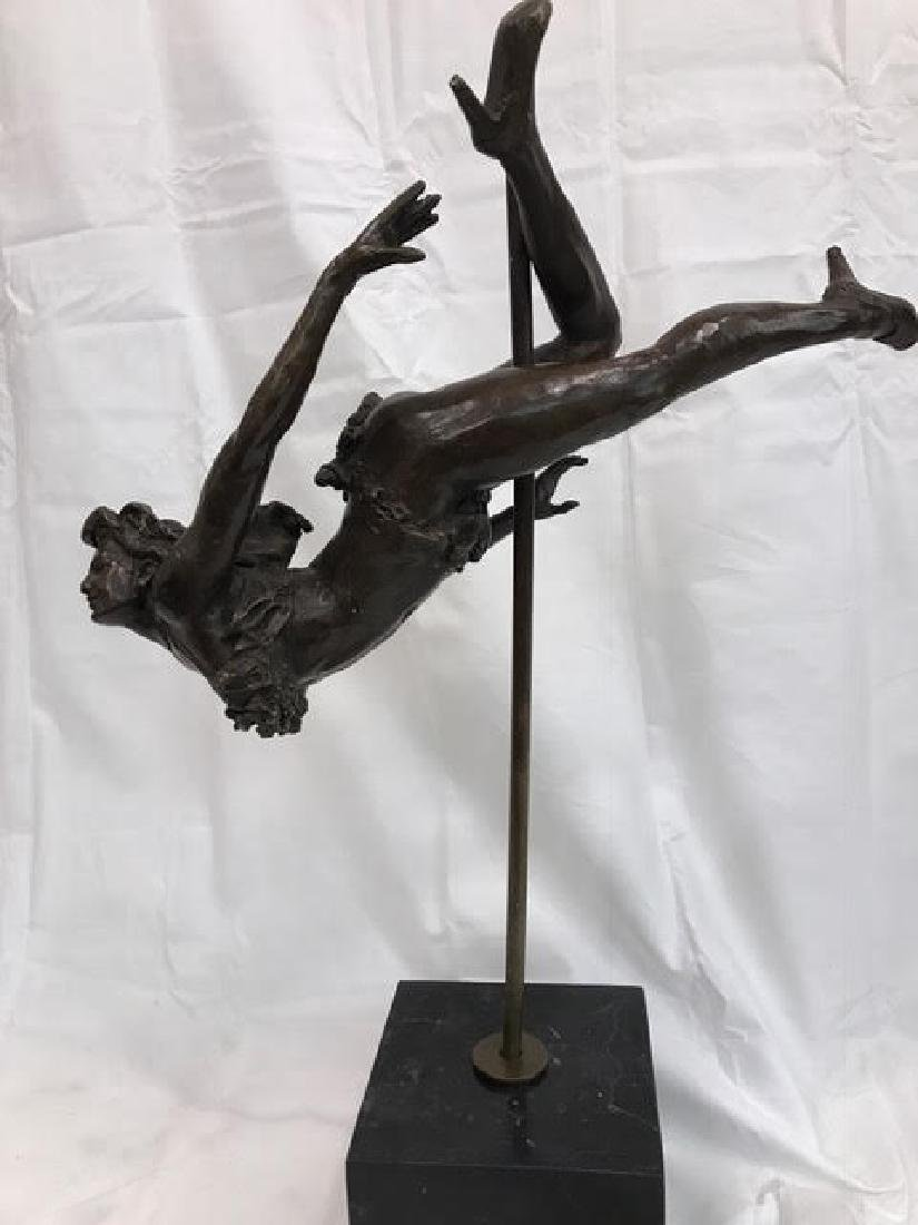 Magnificent Abstract Bronze Statue of Woman Performing