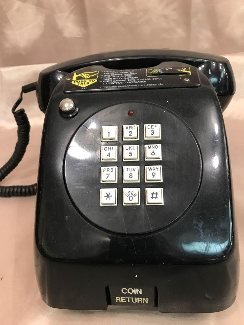 Vintage Coin-Operated Black Telephone